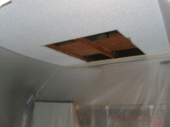Repair hole in ceiling